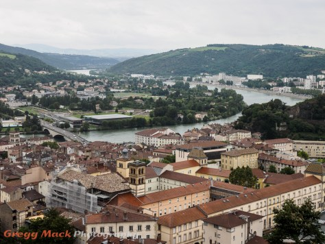 Scenic view from above Vienne, France.