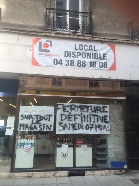 Un an de travaux rue Thiers ont tué les commerces ( Destot)
