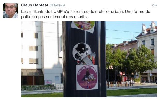 le ridicule K.Habfast (Verts/PG) qui trouve que c'est la droite qui pollue...