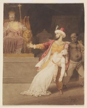 illustration for vathek, by westall