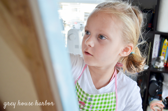 pride of ownership - kids painting  |  greyhouseharbor.com