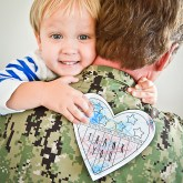 Free Printable Veteran's Day Card for Kids // greyhouseharbor.com