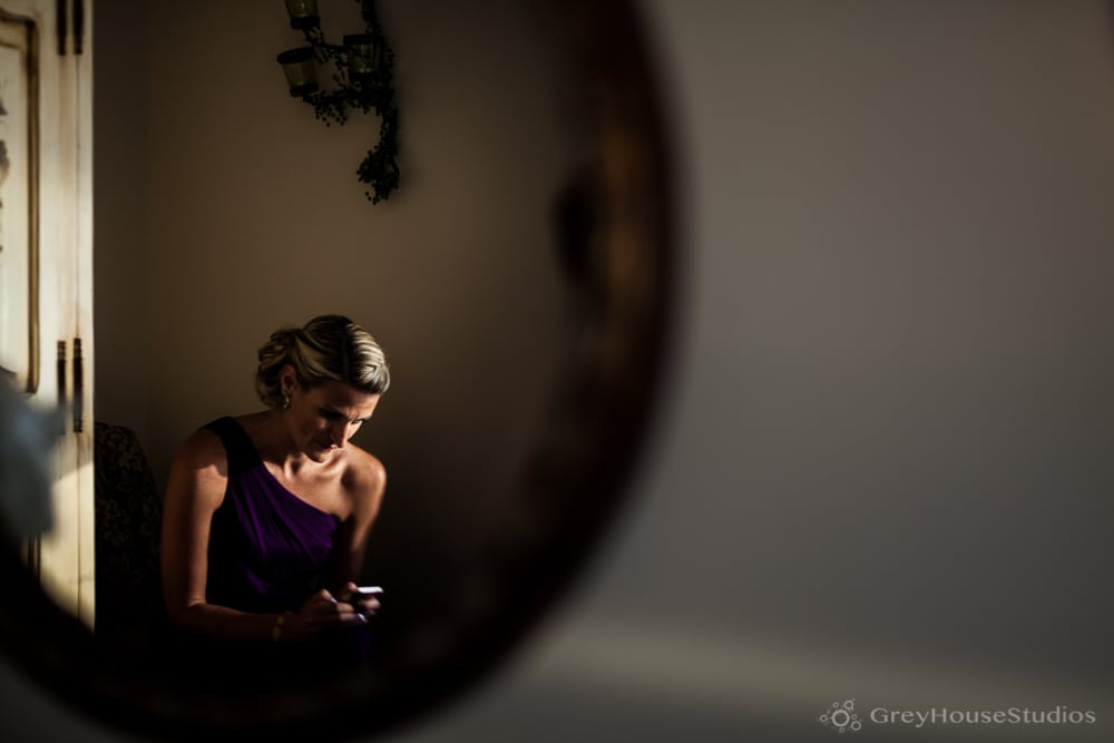 bridesmaid waiting before amarante's wedding ceremony new haven