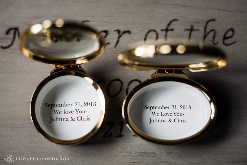 winvian wedding photos detail gifts to parents getting ready