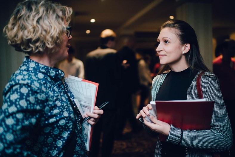 Eva Maria Jernsand och Emma Björner. Foto: The Inaugural Annual Conference of the International Place Branding Association/Emma Ziff Photography