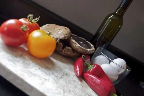 Portobello Eggs on the Grill - 014