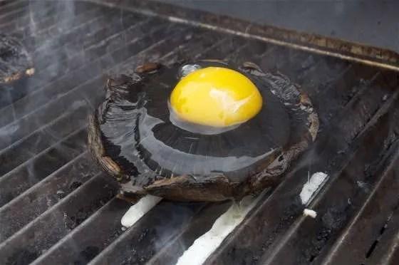 Portobello Eggs on the Grill - 057