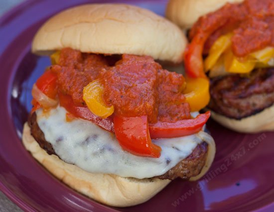 Italian Sausage Sandwiches with onions and peppers