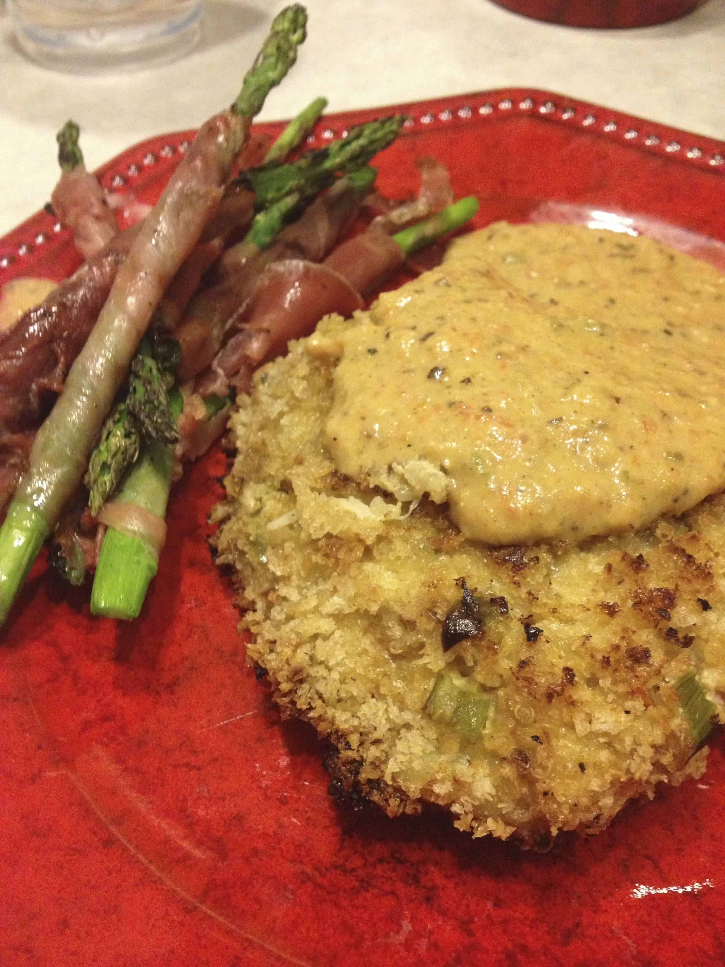 Crab cake recipe on the grill