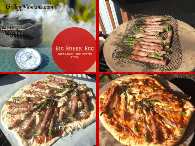 Spring Asparagus and Prosciutto Pizza on the Big Green Egg