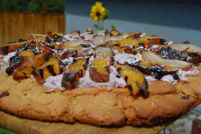 Gluten Free Dessert Pizza on the Grill
