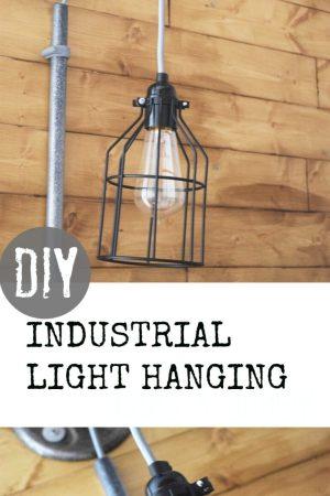 DIY INDUSTRIAL BOBBIN LIGHT HANGING
