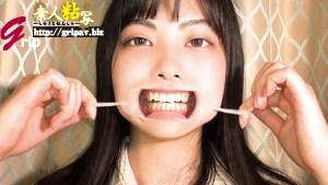 素人粘写07/女子大生のまどかさん 奥歯が内向きの歯並び&細長い舌鑑賞と 喰らいつくバキューム鼻フェラ情熱的接吻編