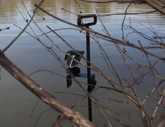 GoPro mount on Trail Camera pole