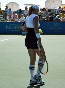 Bethany Mattek-Sands and her funky socks.