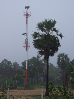Tsunami warning tower is established in the coastal line all over Sri Lanka