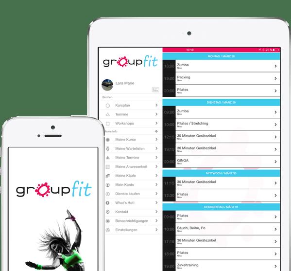 groupfit APP - Fitnessstudio München Trudering - ohne Vertrag