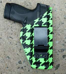 Toxic Houndstooth Clip-On Small Frame Auto Holster