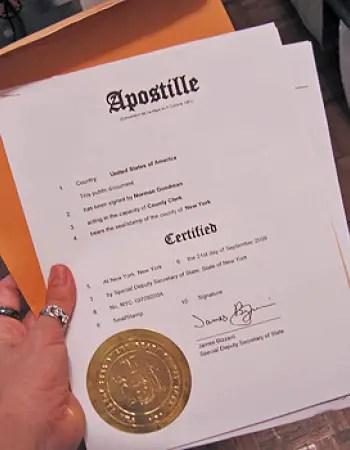 an apostilled document, apostille documents for korea