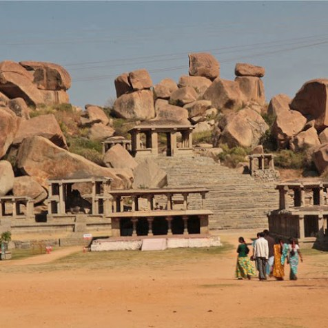 hampi ruins india, hampi unesco ruins