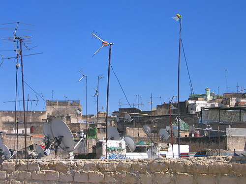 Houses in Fez & their satellite tv