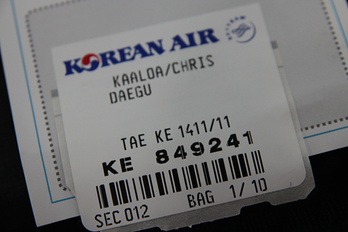 flight to daegu