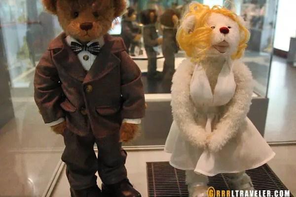 jeju island bear museum teddy, marilyn bear teddy museum