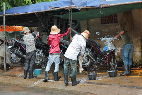 motorcycle wash