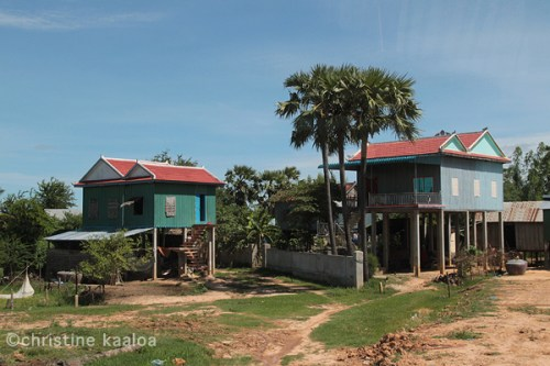stilted houses khmer