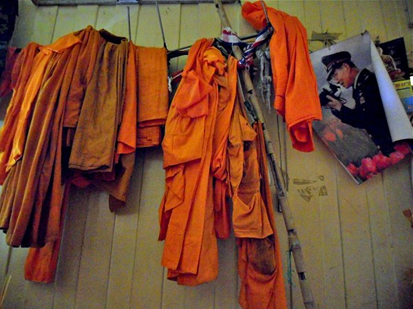 Buddhist monk's robes in Thailand