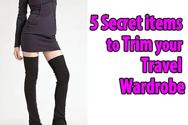 5 fashion items to trim your travel wardrobe