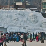 Hwacheon Trout Fishing and Huge, Winter Carnivals in Korea