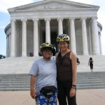 Taking a biking tour of Washington D.C. monuments