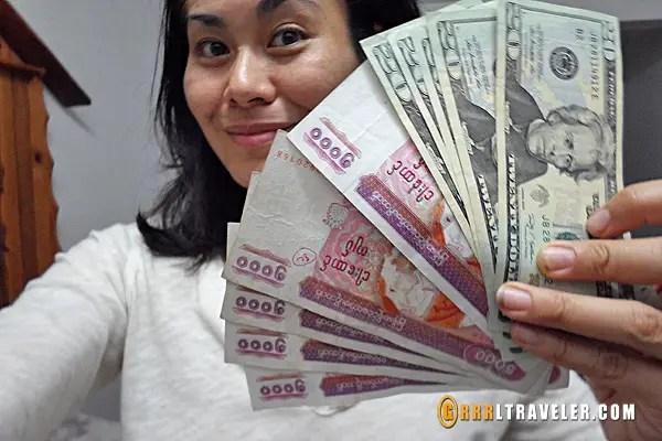myanmar money, burmese currency, burmese kyat