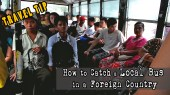 how to catch a bus in myanmar, how to catch a bus in a foreign country, catching a bus in yangon, solo travel tips for getting around by bus, getting around by bus in myanmar, getting around by bus in southeast asia, getting around by bus in asia, how to use the bus