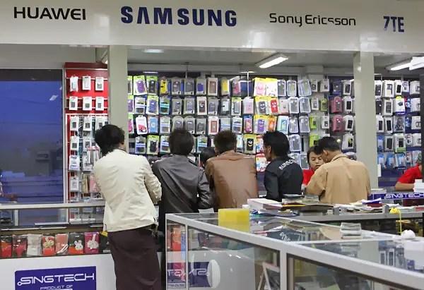 mobile phones in Myanmar, cellphones in Myanmar