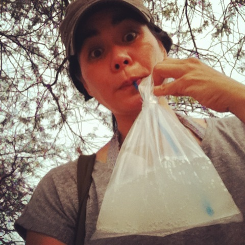 drinking plastic bag, southeast asia drinking