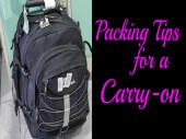 Packing tips for a carry on luggage