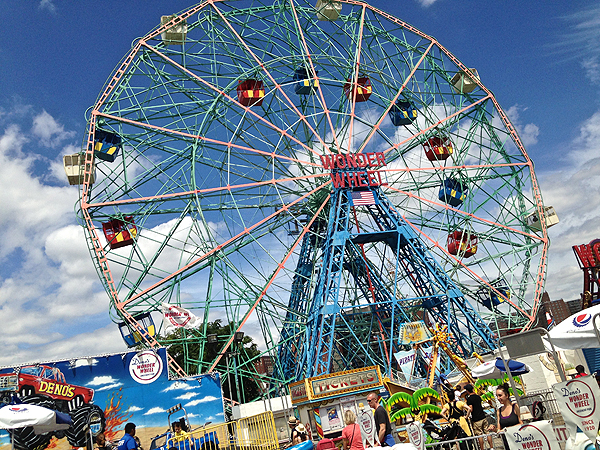 wonder wheel, wonder wheel amusement park, top attractions at Coney Island