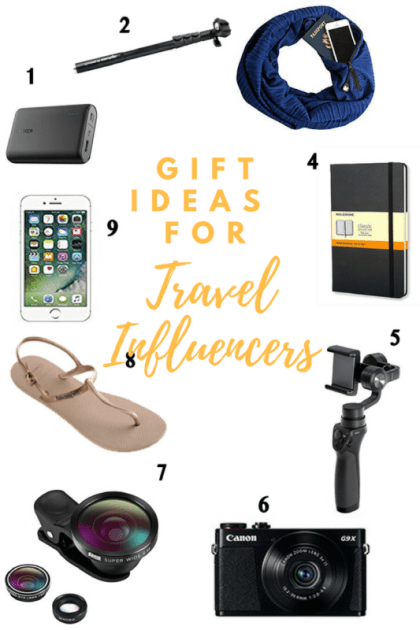 gift ideas for travel influencers, travel influencers, guide for travel influencers