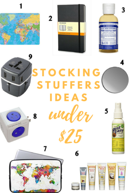 The Ultimate Gift Guide for Travelers, Gift Ideas for Travelers, Stocking Stuffer Ideas Under $25