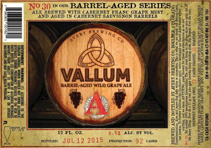 Avery Vallum Barrel-Age Wild Grape Ale