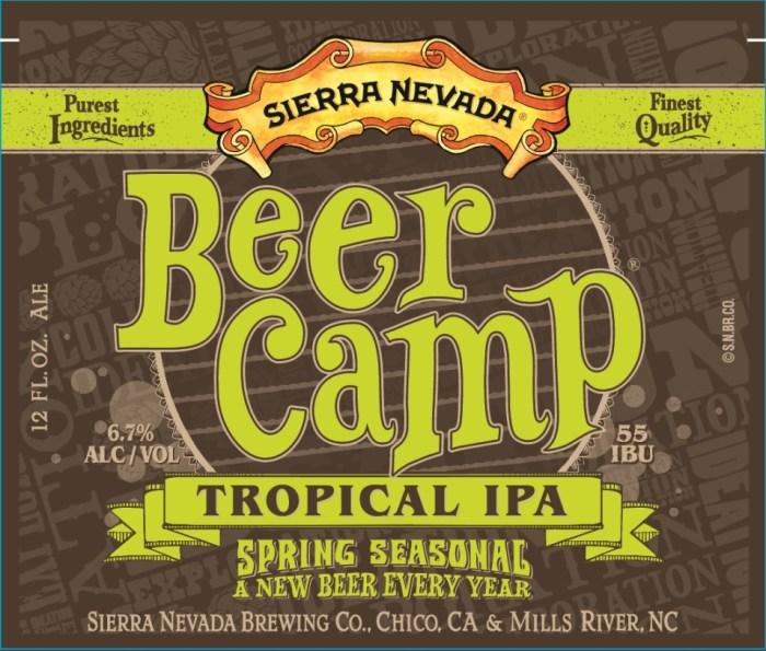 Sierra Nevada Beer Camp Tropical IPA (front)