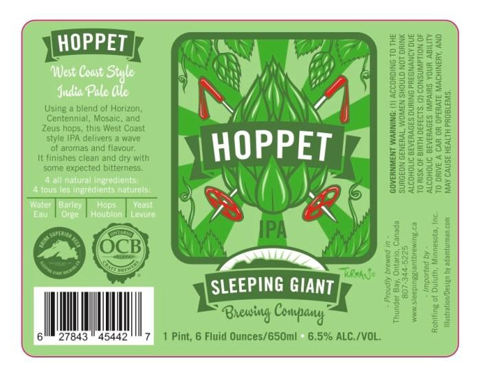 Sleeping Giant Hoppet IPA