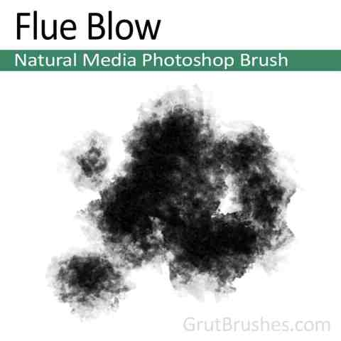 Photoshop Natural Media Brush 'Flue Blow'