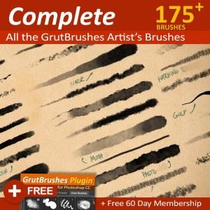 All GrutBrushes professional Artist's brushes