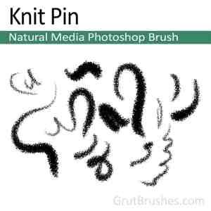 Photoshop Natural Media Brush 'Knit Pin'