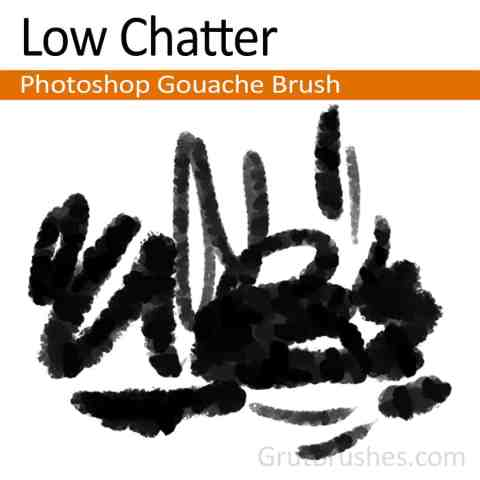 Photoshop Gouache Brush 'Low Chatter'