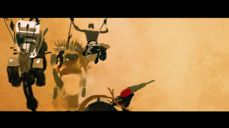 """Still frame from an animated tribute to """"Mad Max:Fury Road"""" by Pablo Fernández Eyre"""