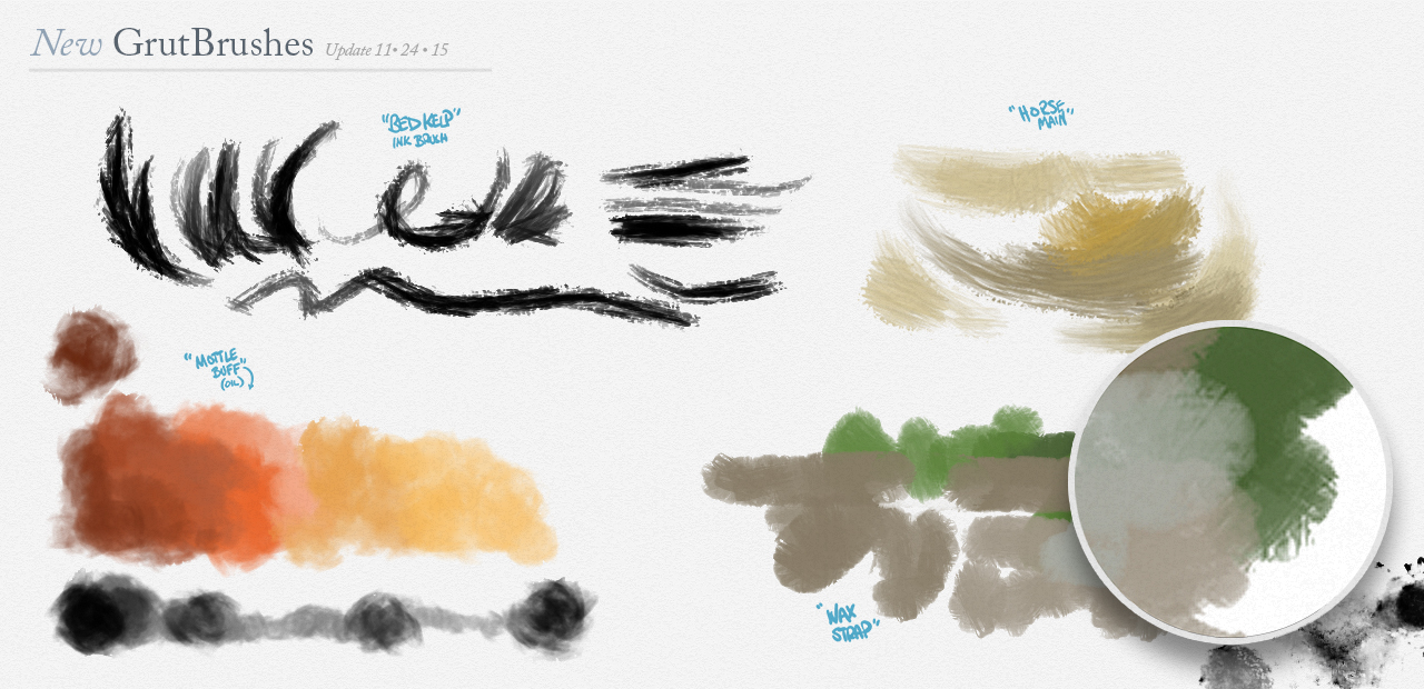 Some of the New Photoshop Brushes added in November